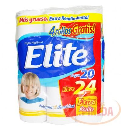 Papel Higiénico Elite Doble Hoja X 24 Pg 20 Lle 24