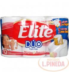 Papel Higiénico Elite Duox 12 Triple Hoja