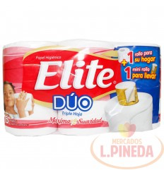 Papel Higiénico Elite Duox 6 Doble Hoja