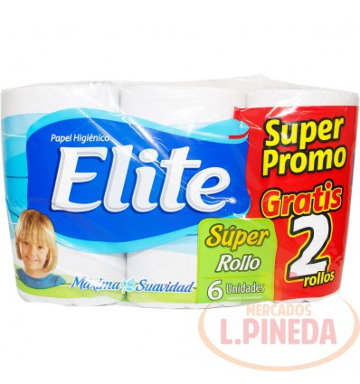Papel Higiénico Elite X 6 Doble Hoja Super Promo
