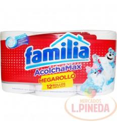 Papel Higiénico Familia Acolchado Mega Rollo X 12