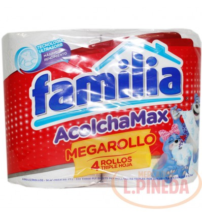 Papel Higiénico Familia Acolchado X 4 Mega Rollo