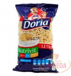 Letras X 250 G Doria