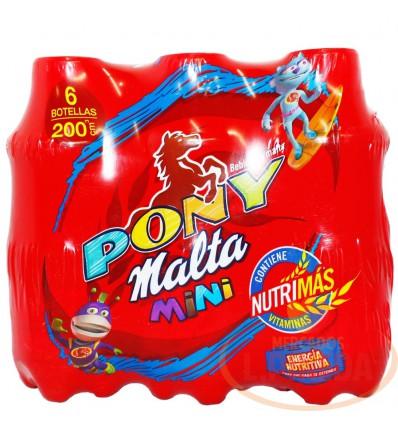 Pony Malta X 200 CC Botella Paq X 6 Unds
