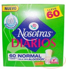 Protectores Nosotras Diarios Normal X 60