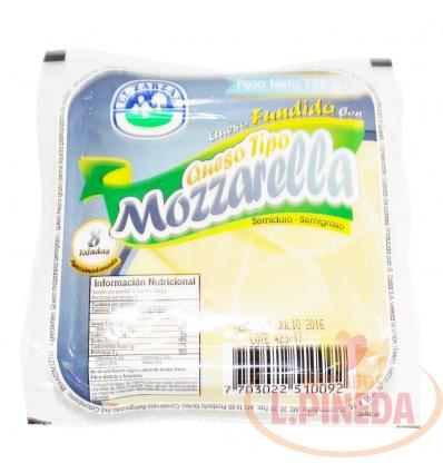 Queso Fundido Mozarela X 125 G El Zarzal