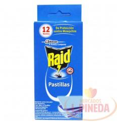 Raid Laminadas X 12 Pastillas