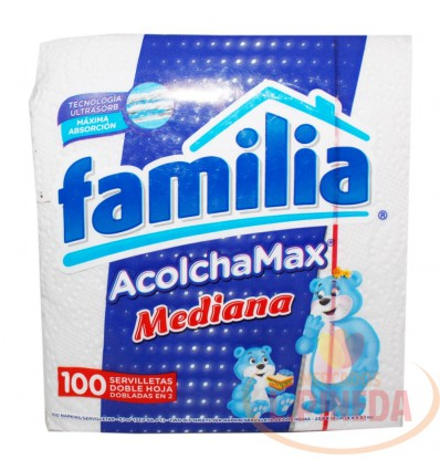 Servilletas Familia Acolchamax X 100unds