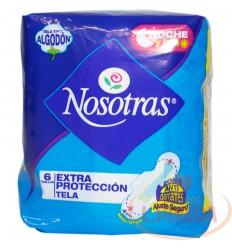 Toallas Nosotras Extra Protexion Tela Dias Y Noche X 6