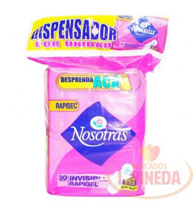 Toallas Nosotras Invisible Rapigel X 30