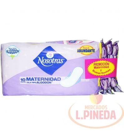 Toallas Nosotras Maternidadx 10 + 3 Buenas Noches
