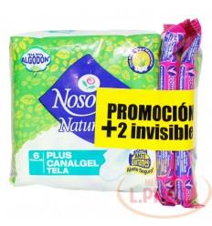 Toallas Nosotras Plus Canalgel X 6 + 2 Invicibles