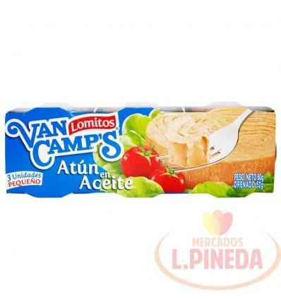 Atun Van Camps 80 G X 3 Premium Aceite