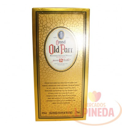 Whisky Grand Old Parr X 750 ML 40%