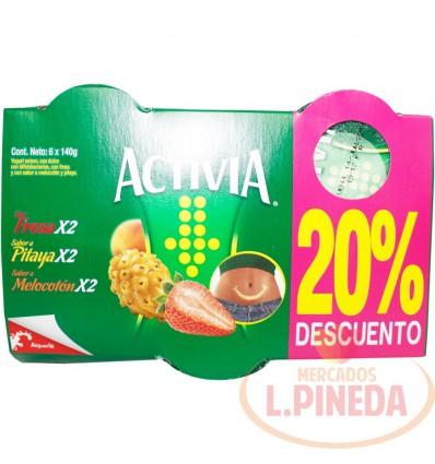 Yogurt Activia Vaso X 140 X 6