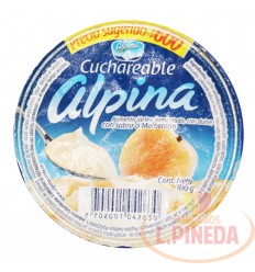 Yogurt Alpina Cuchariable X 100 G Melocoton