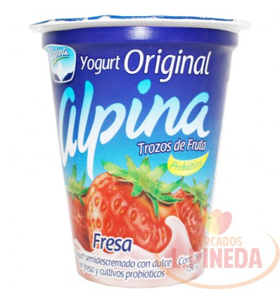 Yogurt Alpina Original X 150 G Fresa