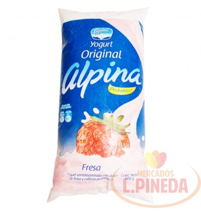 Yogurt Alpina Original X 900 G Fresa Bolsa