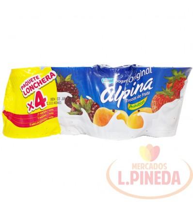 Yogurt Alpina Vaso 150 G X 4 Surtidos
