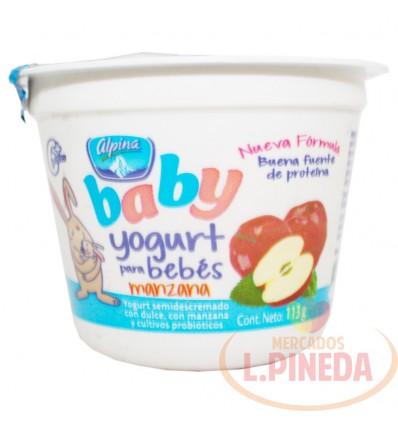 Yogurt Baby Alpina X 113 G Manzana