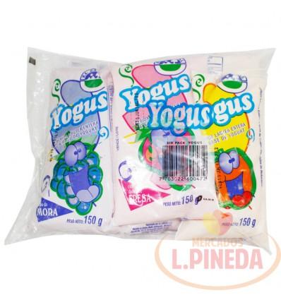 Yogurt Yogus Bolsa Sixpac X 150 G Sabores Surtidos