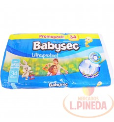 Pañal Babysec Ultraprotec Etapa 5 Xxg