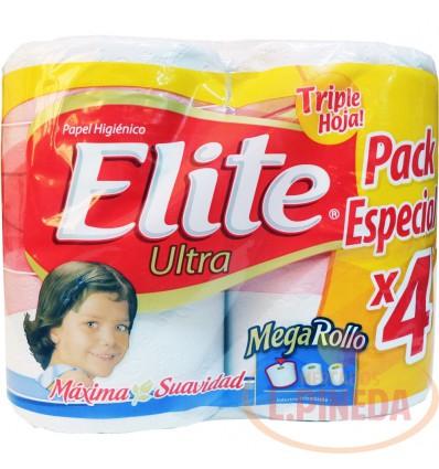 Papel Higiénico Elite X 4 Mega Rollo