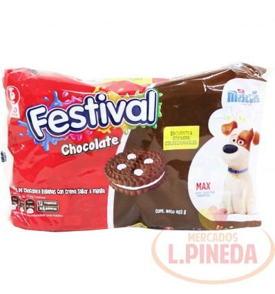 Galletas Festival Chocolate 12 X 4 Un