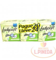 Toallas Ladysoft X 8 Paq X 3 Normal Con Nuevo Diseño