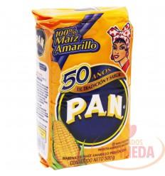 Harina De Maiz P.A.N X 500 G Amarillo