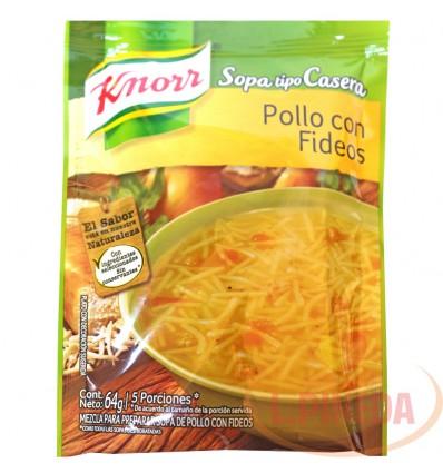 Sopas Knorr X 64 G Pollo Con Fideos