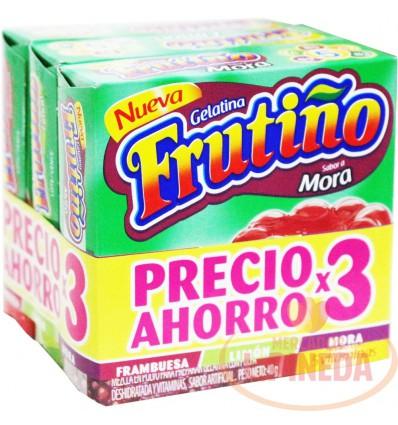 Gelatina Frutiño X 3 X 40 G Sabores Surtidos