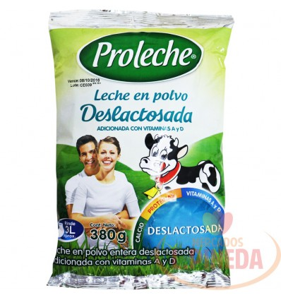 Leche Proleche X 380 G En Polvo Deslactosada
