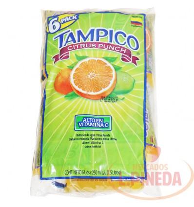 Jugo Tampico X 250 ML Naranja Paquete X 6 Un