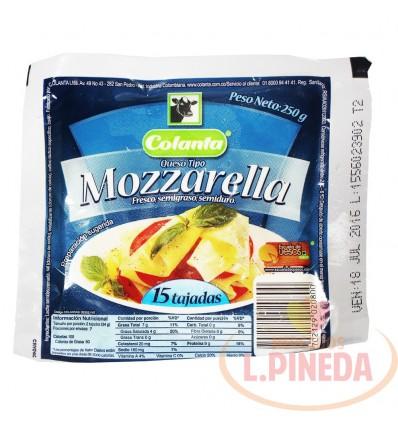 Queso Mozzarella Colanta X 250 G