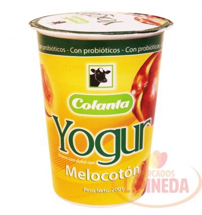 Yogurt Colanta X 200 G Melocoton Vaso