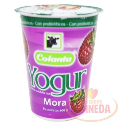 Yogurt Colanta X 200 G Mora Vaso