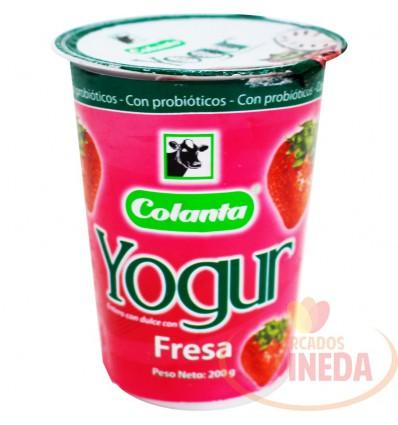 Yogurt Colanta X 200 G Fresa Vaso