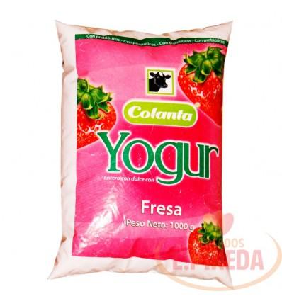 Yogurt Colanta Bolsa X 1000 G Fresa