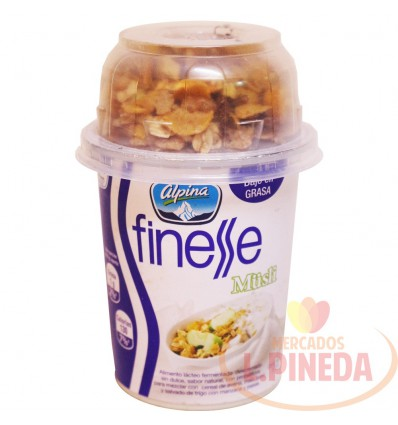 Yogurt Con Cereal Finess X 170 G Natural