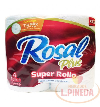 Papel Higiénico Rosal Super Rollo X 4