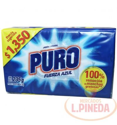 Jabon Barra Puro X 250 G Fuerza Azul
