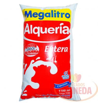 Leche Alqueria X 1100 ML Entera Megalitro