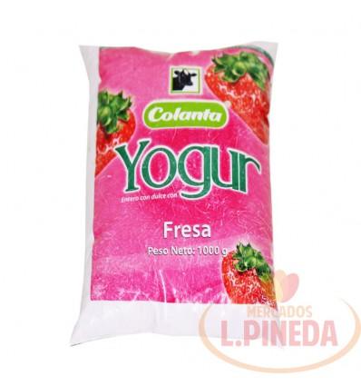 Yogurt Colanta X 1000 G Fresa