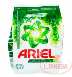 Detergente Ariel Oxianillos X 450 G Doble Poder