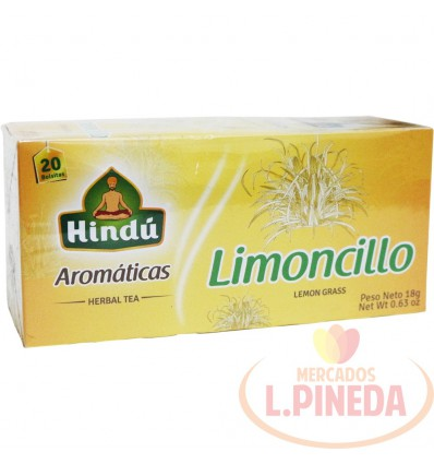 Aromaticas Hindú 20 X 18 G Limoncillo