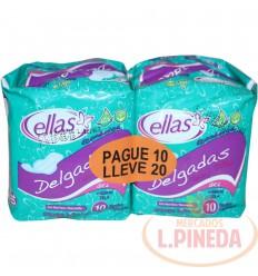 Toallas Ellas 10 X 20unds Alas Economica