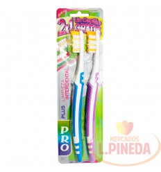 Cepillo Dental Pro Plus Ondulado X 2 Un