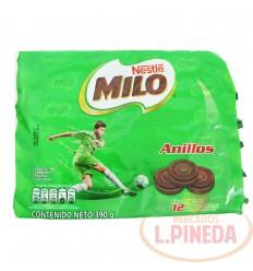 Galletas Milo Anillos Nestle X 12 Unds