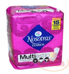 Protectores Nosotras Multiestilo X 15 Un